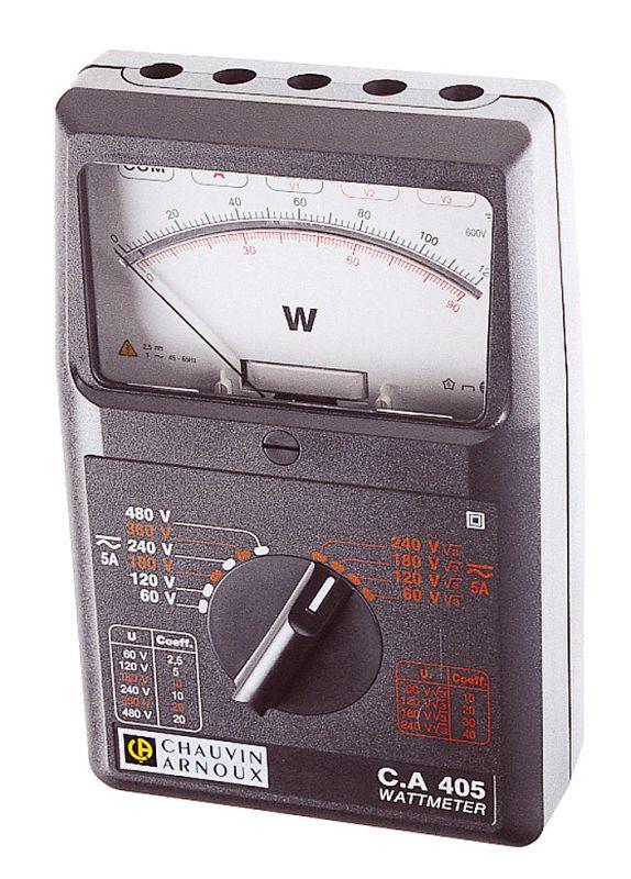 Jedno atrojfázový wattmeter C.A 405