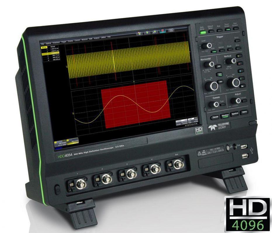 12-bitové osciloskopy Teledyne LeCroy HDO4000 aHDO4000-MS