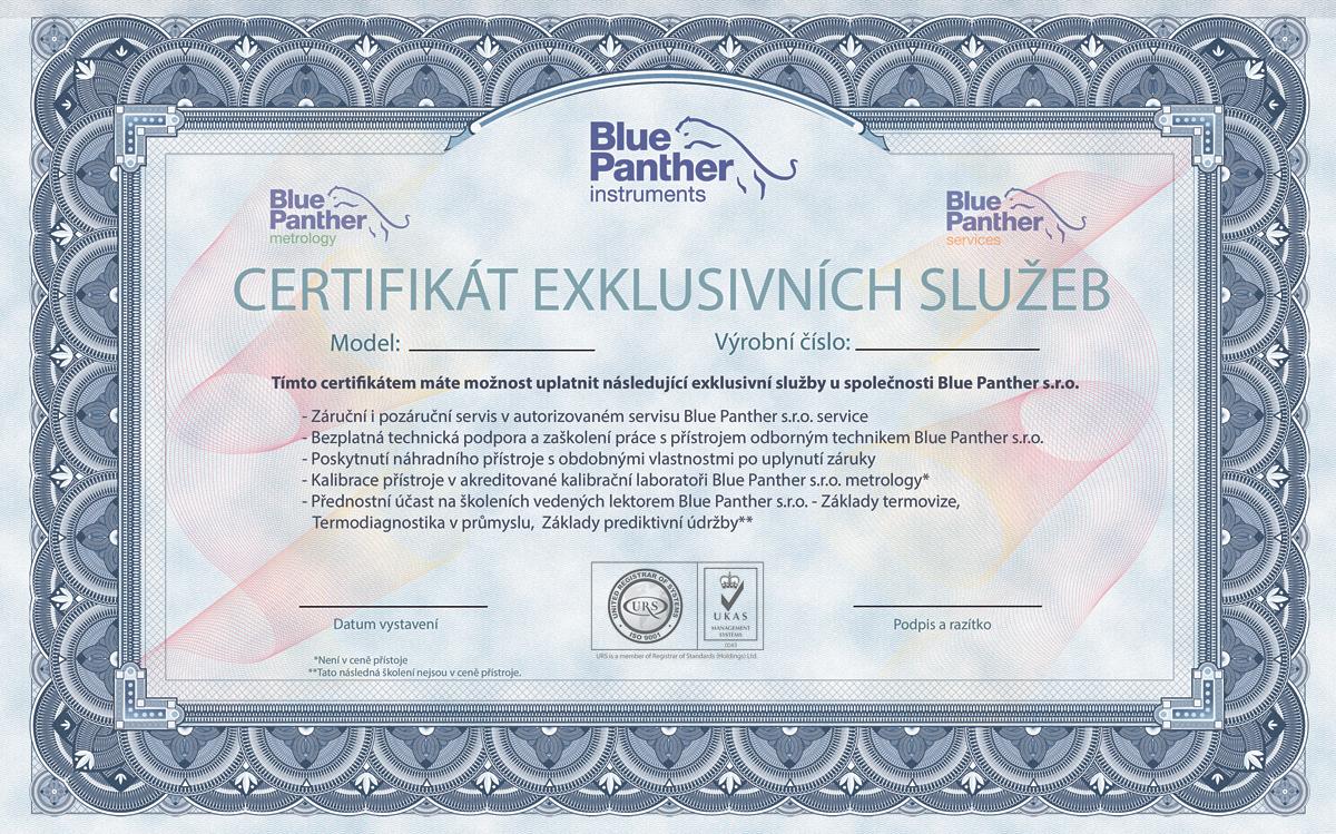 Certifikát exklusivních služeb
