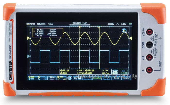 Ručný batériový osciloskop GW Instek GDS 200/300