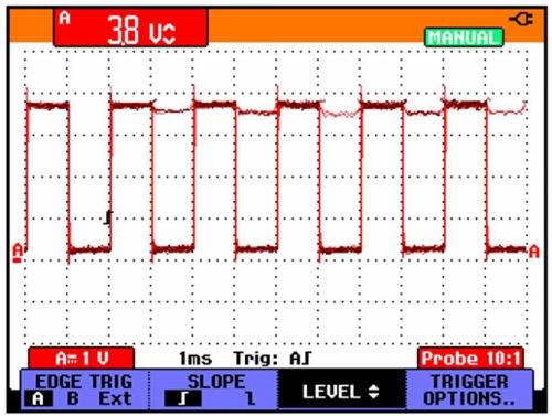Spouštění šíří pulzu uměřicího přístroje Fluke ScopeMeter® řady 190 obr5-4.jpg