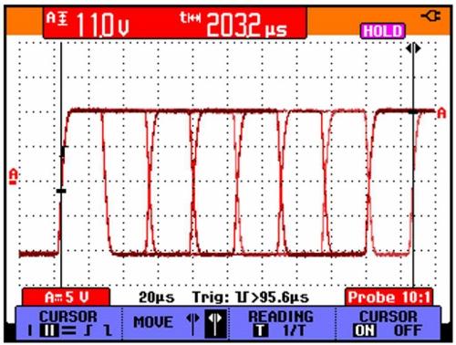 Spouštění šíří pulzu uměřicího přístroje Fluke ScopeMeter® řady 190 obr7-3.jpg