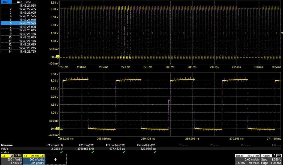6. díl - Detekce aměření anomálií na digitálním osciloskopu teledy_lecroy_osscilocope_signal_5.jpg