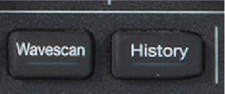 6. díl - Detekce aměření anomálií na digitálním osciloskopu wavescan_and_history_buttons_on_teledyne_lecroy_oscilloscope.jpg