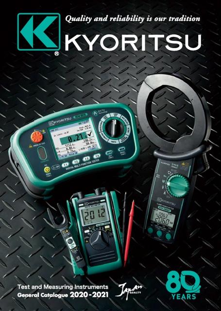 Katalóg meracích prístrojov Kyoritsu celkový anglický