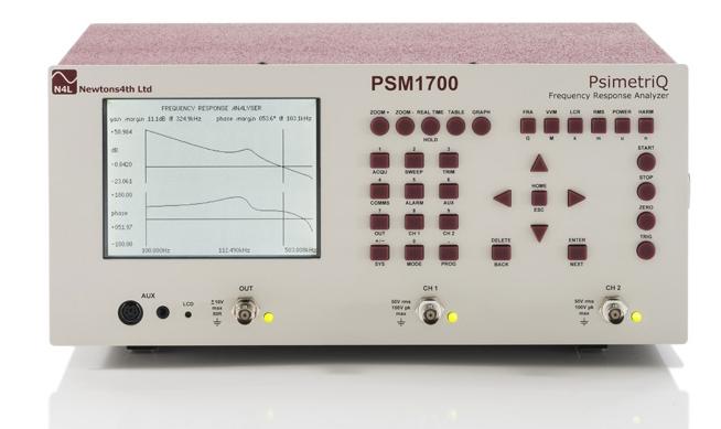 Analyzátor frekvenčnej odozvy PSM1700