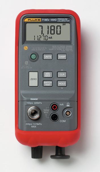 FLUKE 718Ex 300G Jiskrová bezpečný tlakový kalibrátor