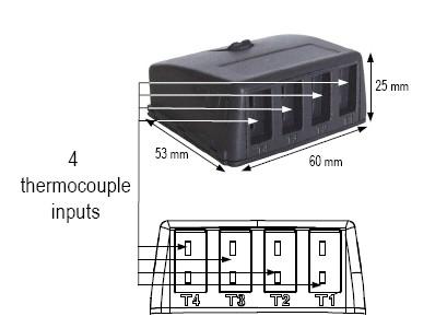 KIMO-termočlánkový modul na meranie teploty