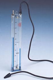 Vertikálne manometre KIMO tvaru U rady KM