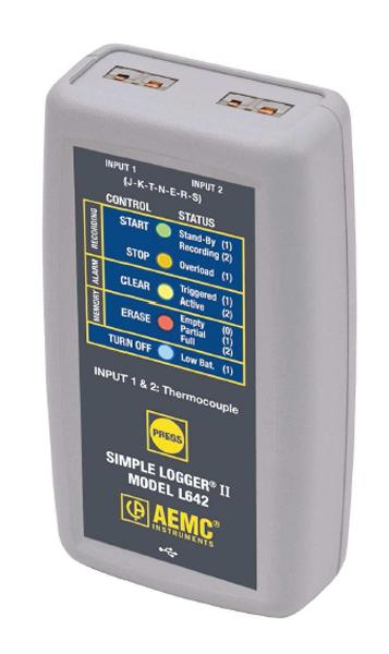 Jednoduchý záznamník teploty Chauvin Arnoux L642
