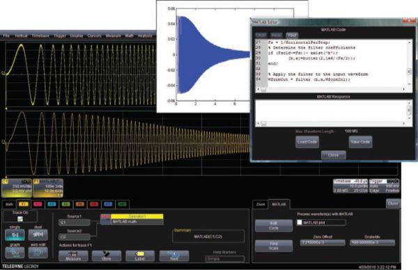 XDEV - balíček rozšírení matematického spracovania pre osciloskopy Teledyne LeCroy